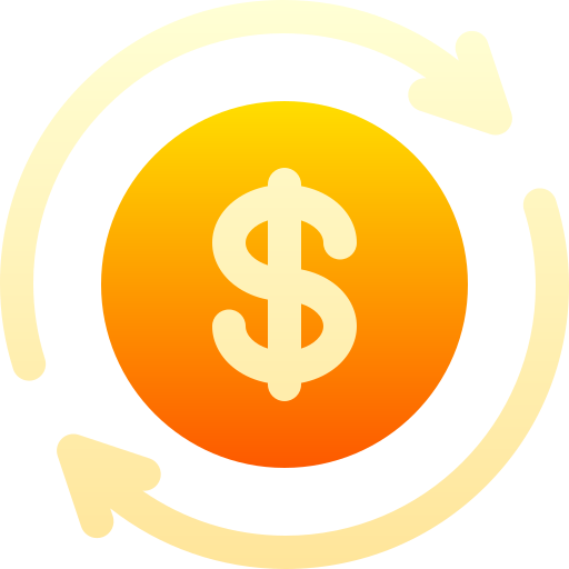 Drawing of dollar sign with circles around it
